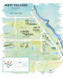 west villages map